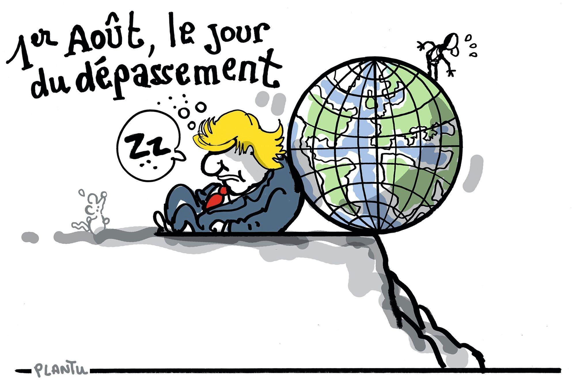 Dessin de Plantu, Le Monde, 2 août 2018