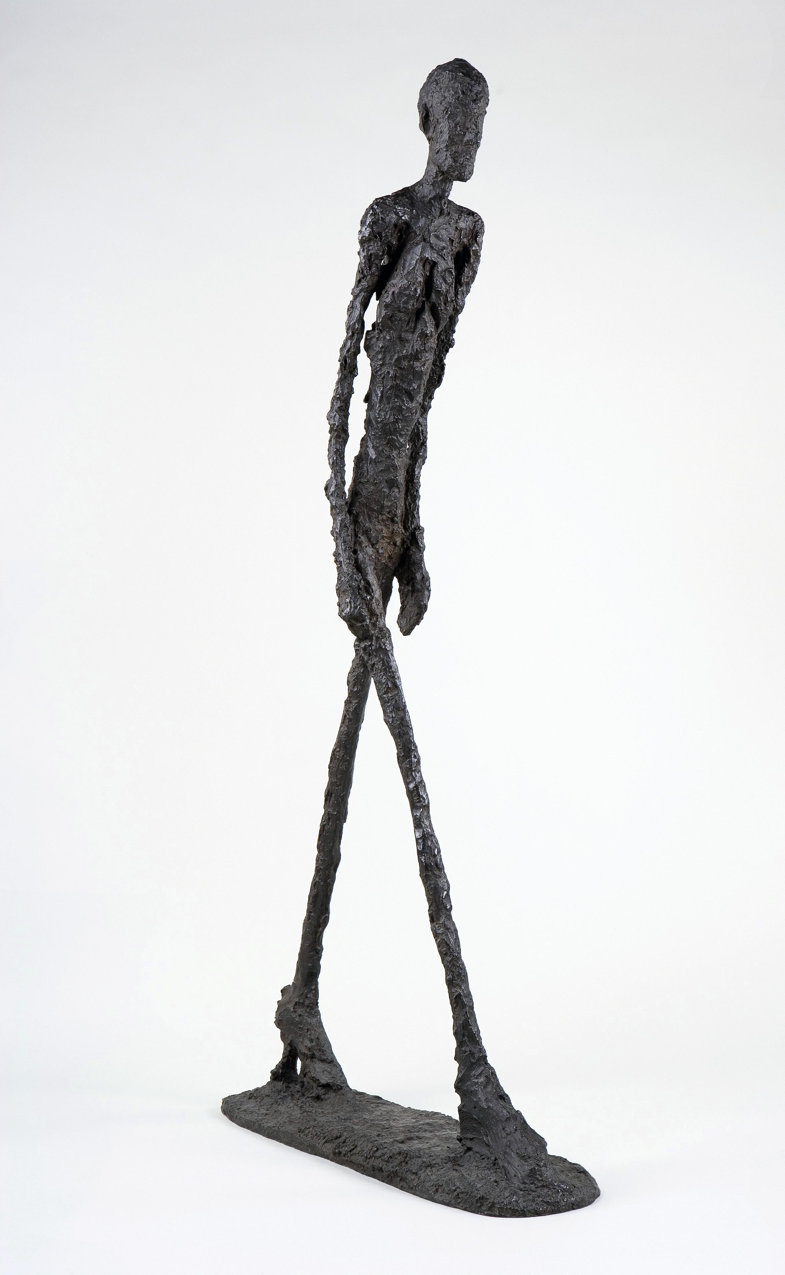 Alberto Giacometti, L'Homme qui marche, 1960, bronze, 183 cm.