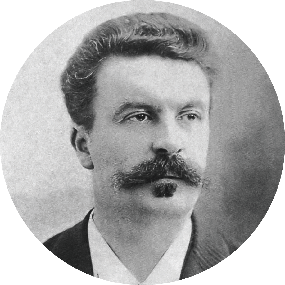 photographie portrait de Guy de Maupassant