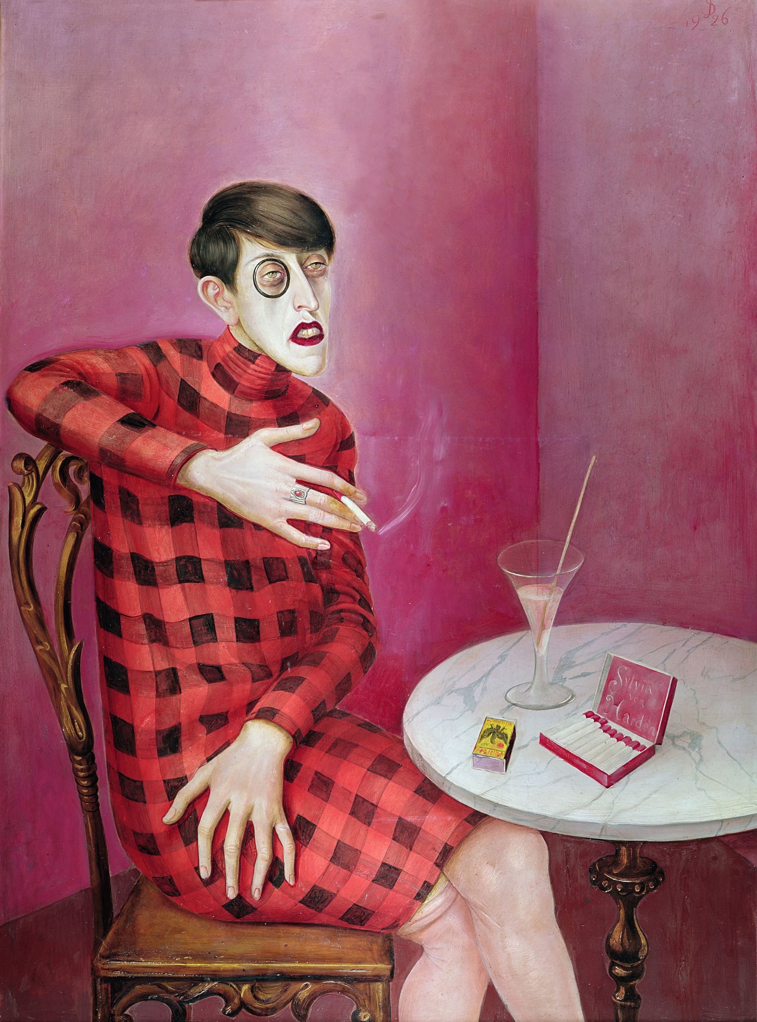 Otto Dix, Portrait de la journaliste Sylvia von Harden,