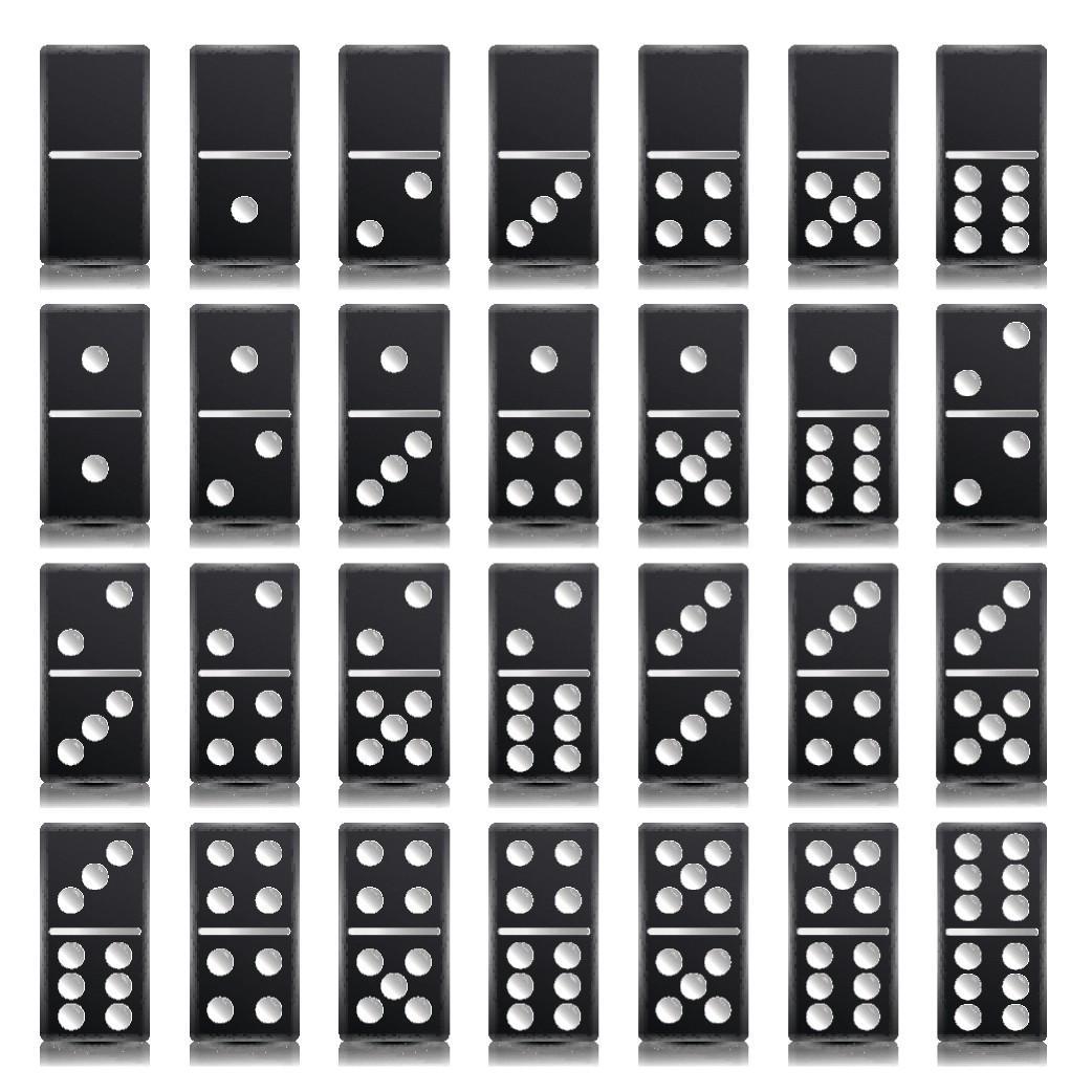 jeu de domino noir