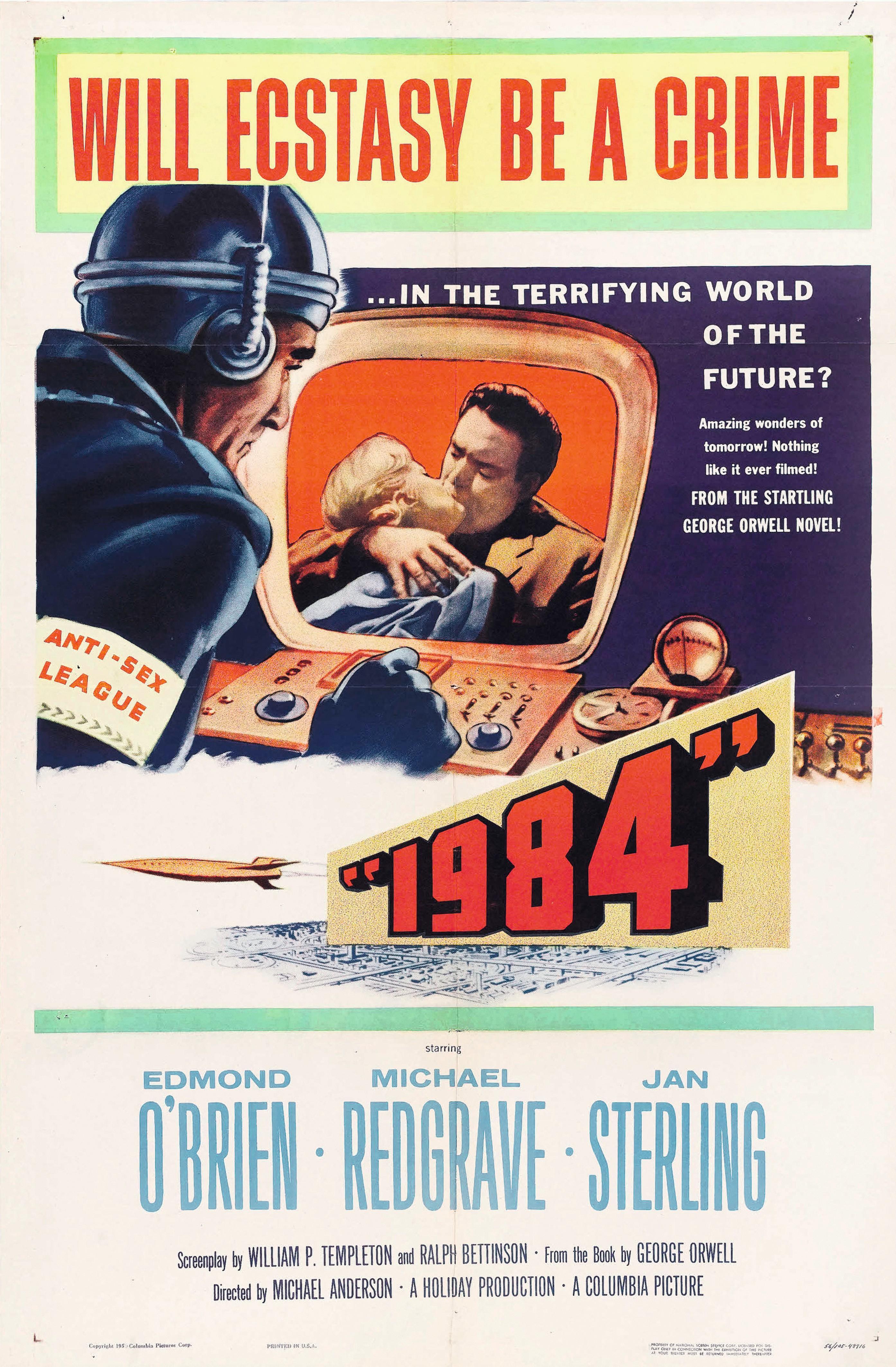 Affiche de 1984, film de Mickael Anderson, 1956.