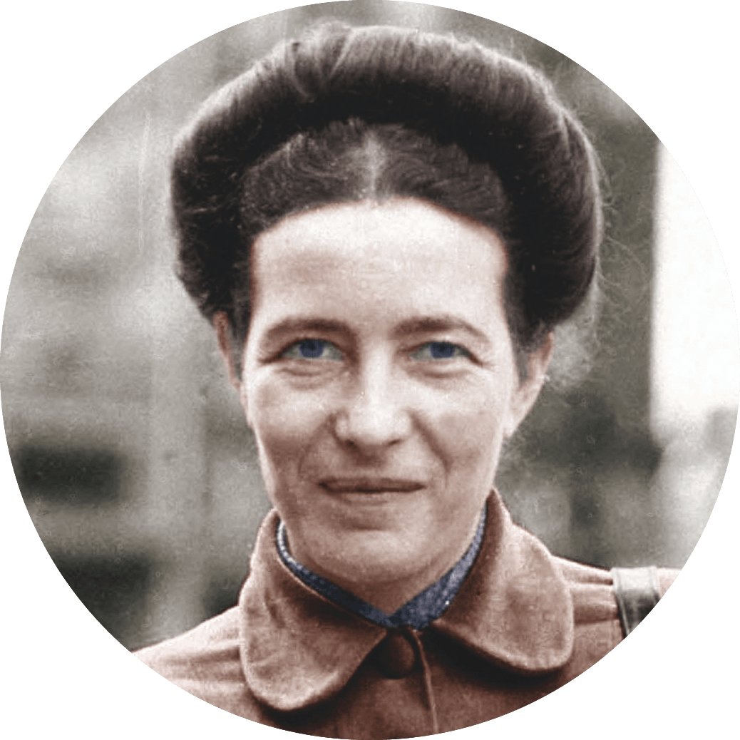 photo portrait SImone de Beauvoir