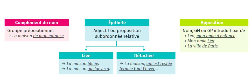 Fiche Méthode 5 Grammaire Français Les fonctions liées au nom