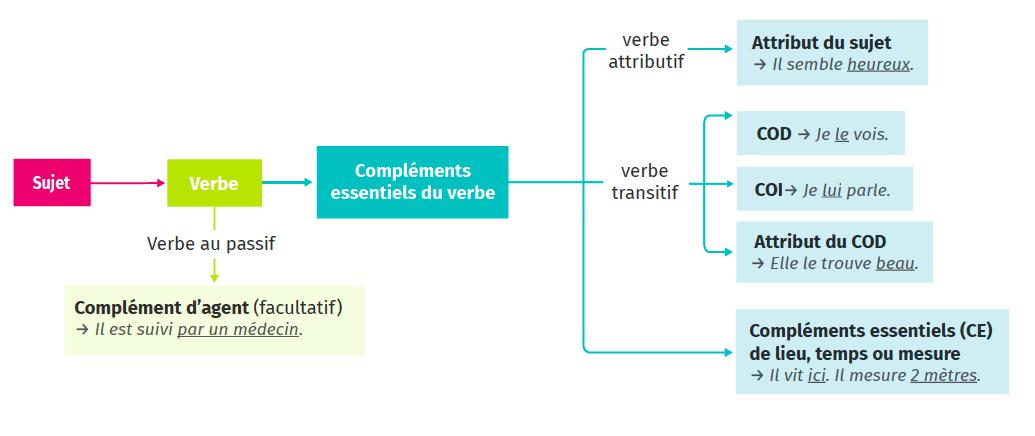 Fiche Méthode 5 Grammaire Français Les fonctions liées au verbe