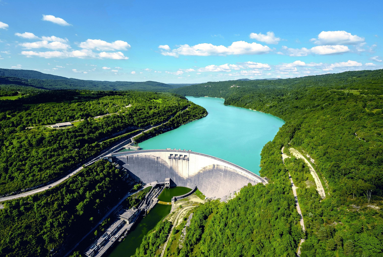 Le barrage de Vouglans dans le Jura