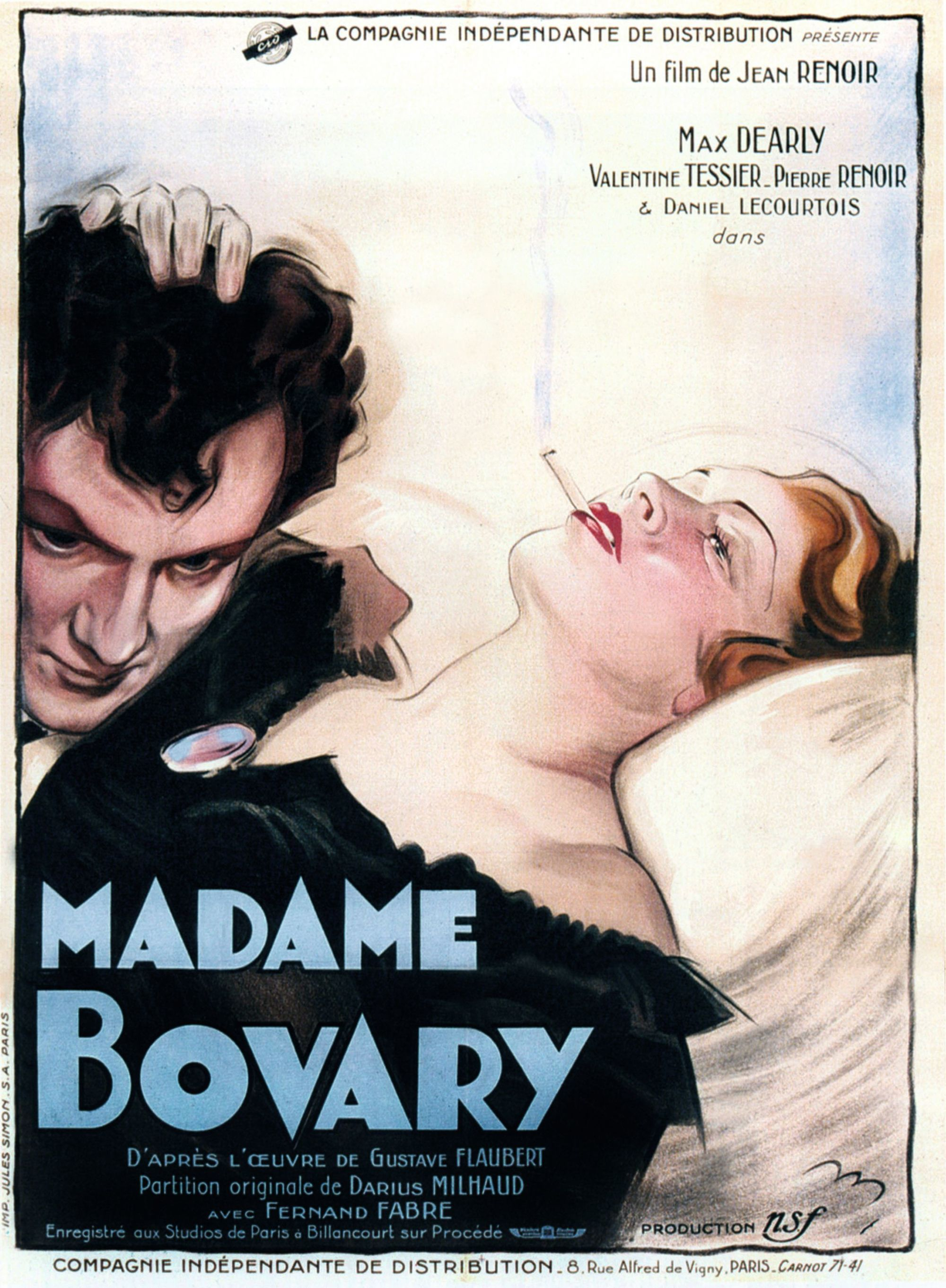 Affiche du film Madame Bovary de Jean Renoir, 1934.