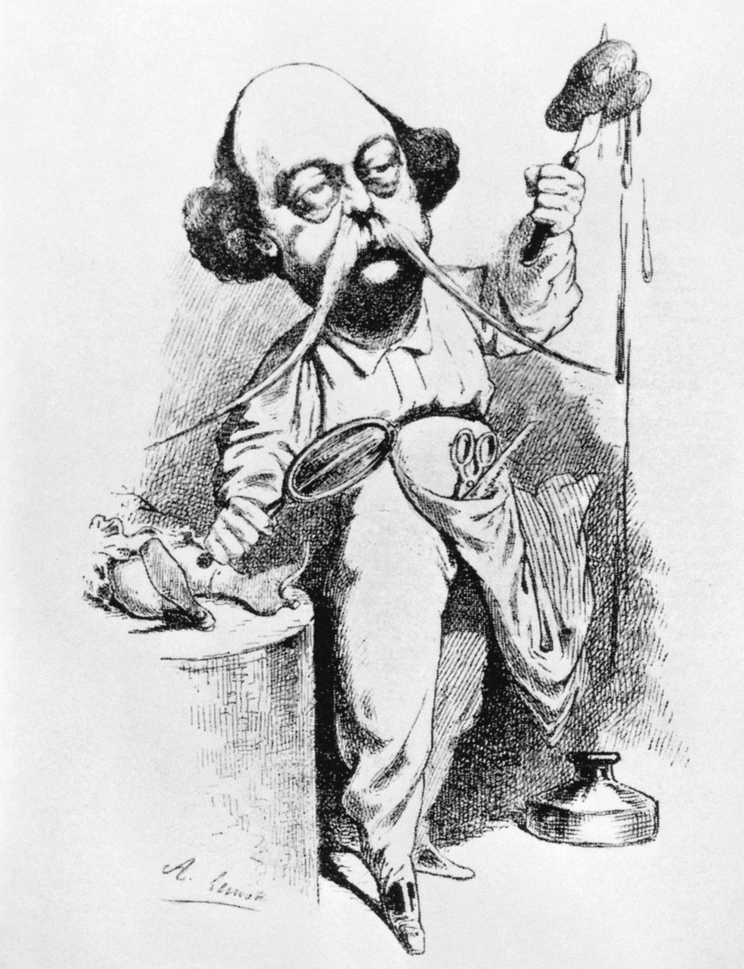 Achille Lemot, Flaubert disséquant Madame Bovary, 1869.