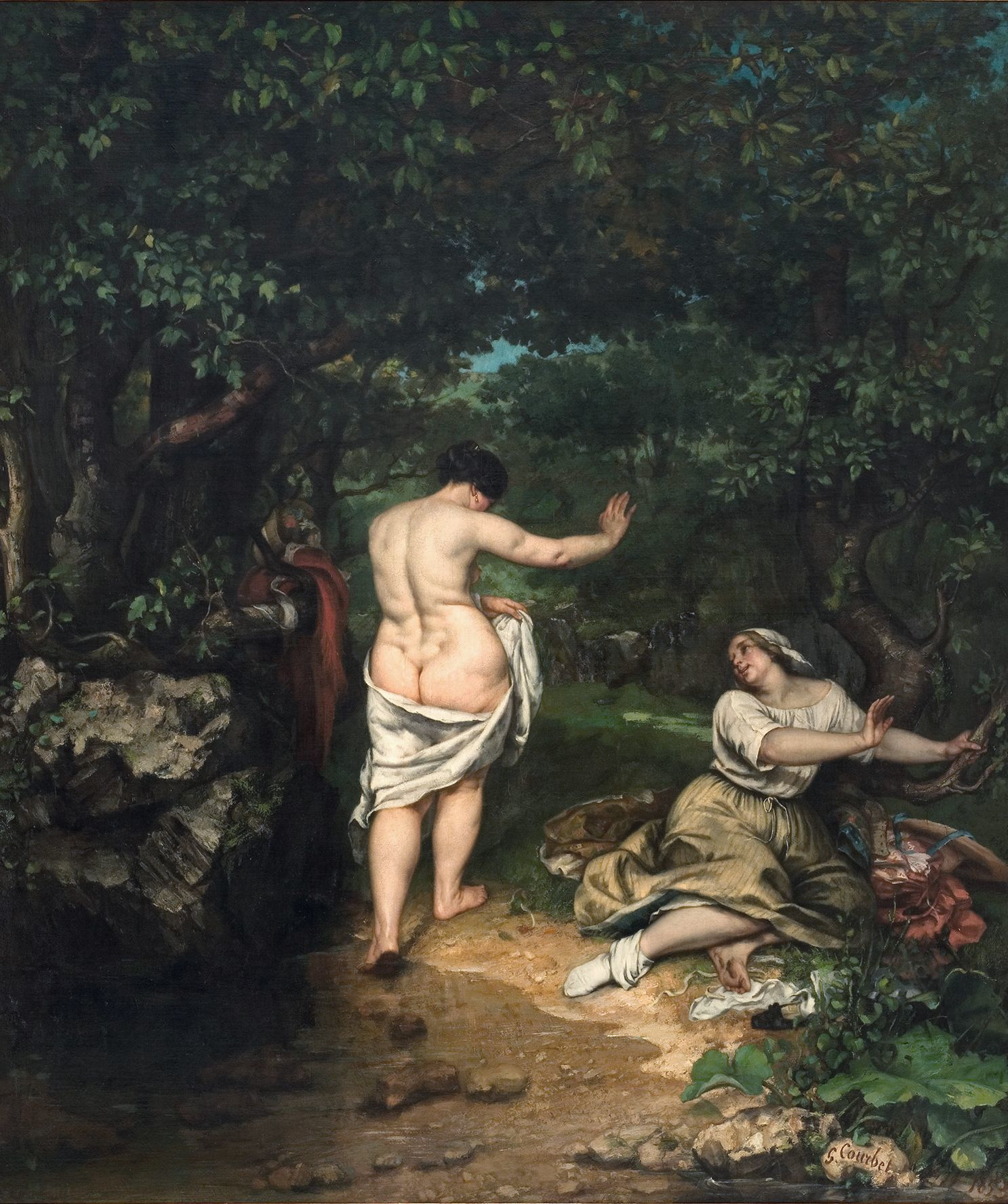 Gustave Courbet, Les Baigneuses, 1853