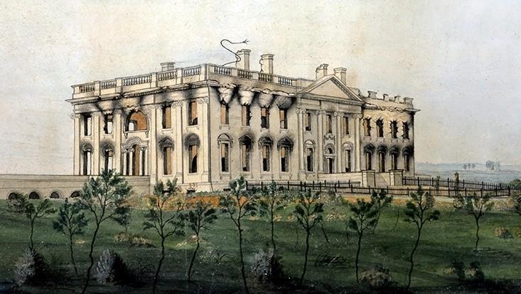 George Munger, La Maison-Blanche après l'incendie de 1814, 1815