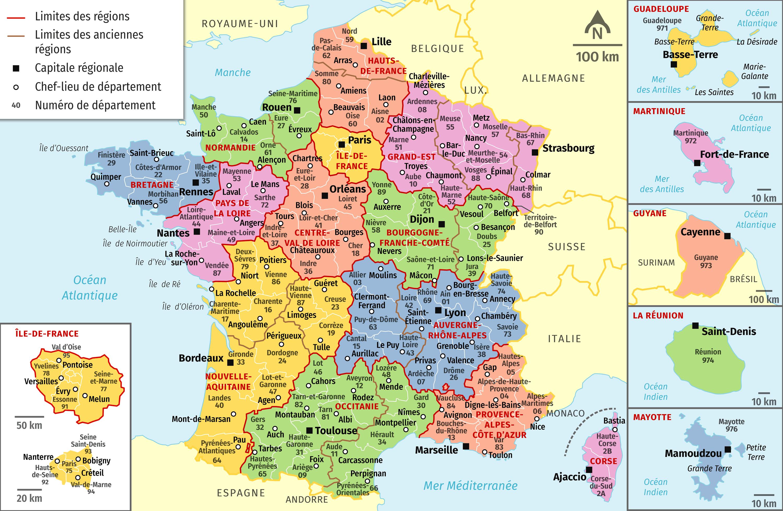 Le découpage administratif de la France