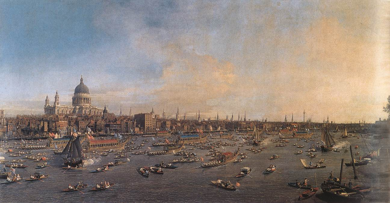 Une vue de Londres au XVIII<sup>e</sup> siècle
