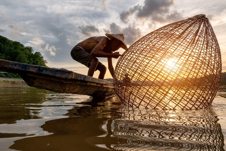 Pêche traditionnelle au Vietnam