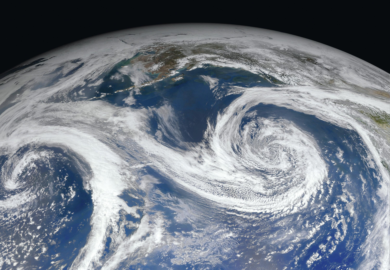 Terre vue d'un satellite