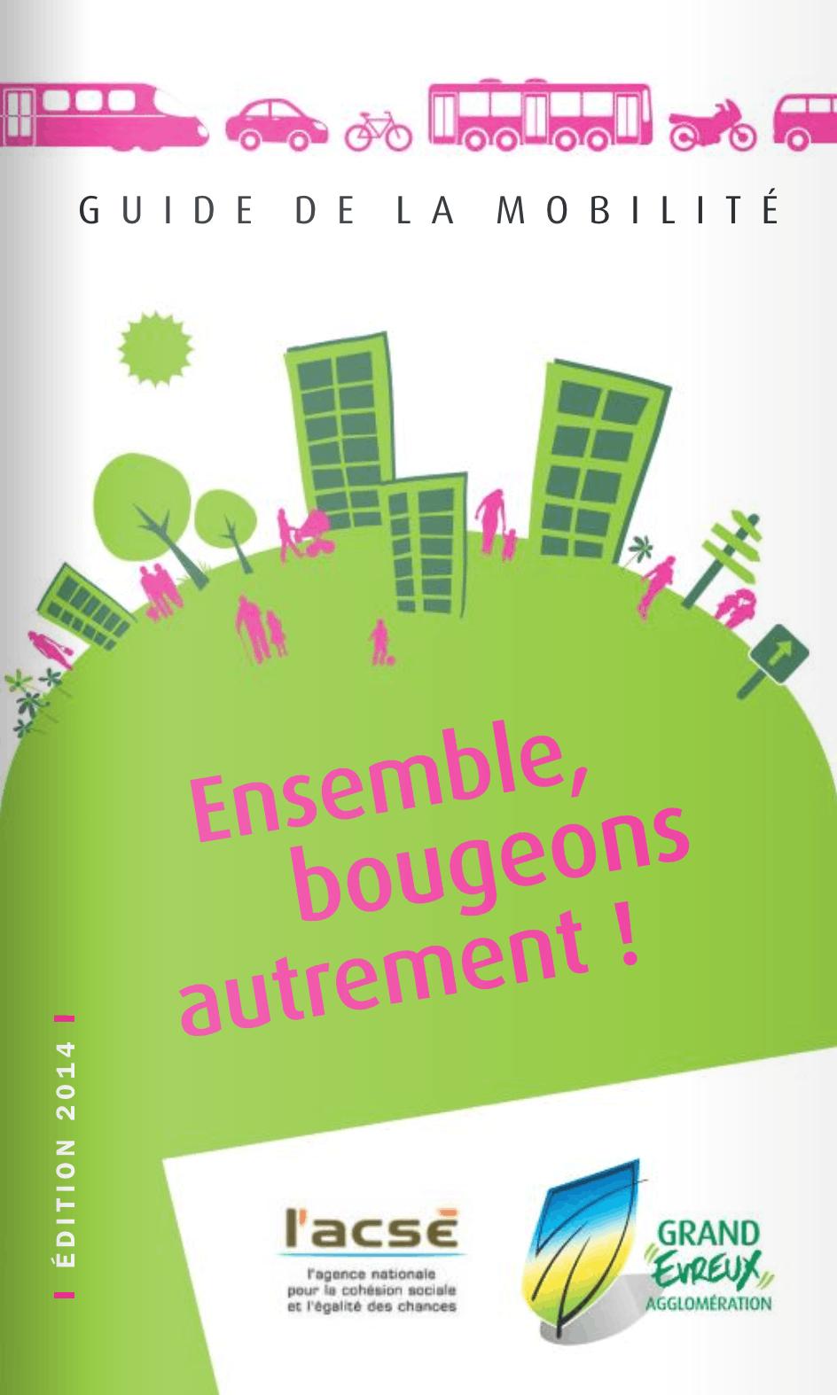 Affiche du « guide de la mobilité » de la ville d'Évreux, 2014.