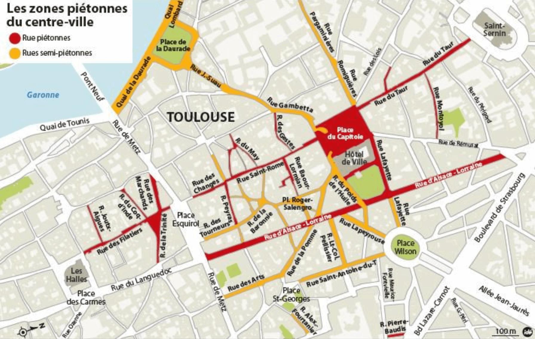 La piétonnisation du centre-ville de Toulouse