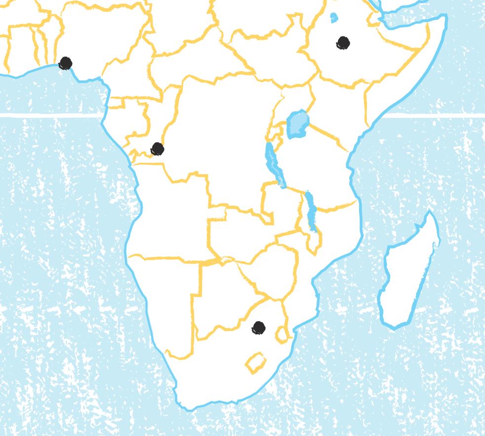 Fond de carte Afrique australe